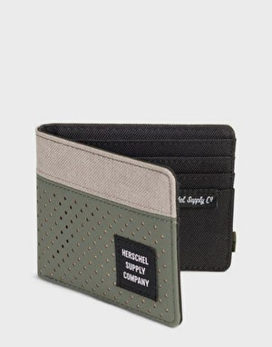 Herschel Supply Co. Roy RFID Wallet - Light Khaki Crosshatch/Forest