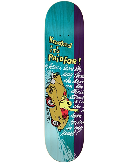 Krooked Sebo Paid For Love Pro Deck - 8.06""