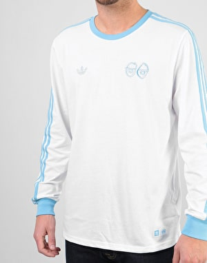 Adidas x Krooked L/S T-Shirt - White/Clear Blue