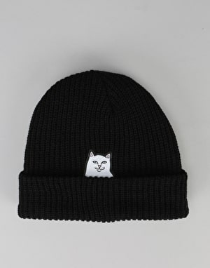 RIPNDIP Lord Nermal Ribbed Beanie - Black