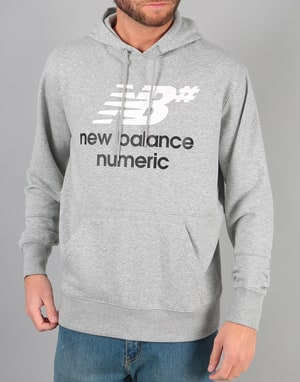New Balance Numeric Stacked Logo Pullover Hoodie - Athletic Grey