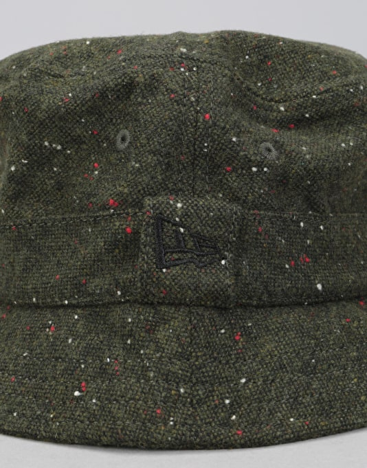 New Era Tweed Bucket Hat - Dark Green
