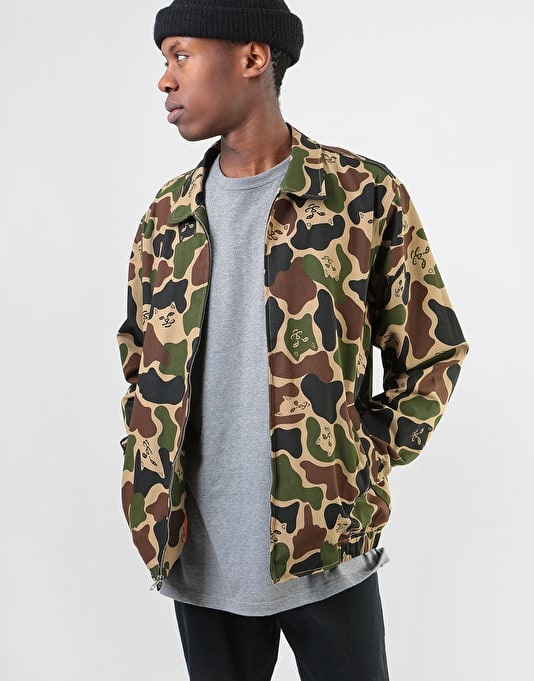 RIPNDIP Nermal Camo Cotton Coach Jacket - Army Camo