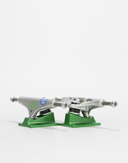 Royal Hsu Standard 5.25 Pro Trucks - Raw/Green (Pair)