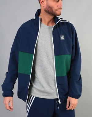 Adidas Class Jacket - Night Indigo/Collegiate Green/White