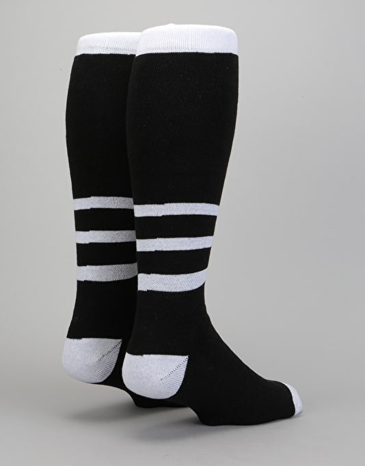 Stinky Heavyweight 2018 Snowboard Socks - Black/White