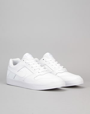 Nike SB Delta Force Vulc Skate Shoes - White/White-White