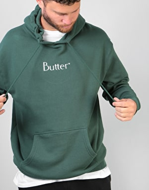 Butter Goods Embroidered Classic Logo Pullover Hoodie - Forest