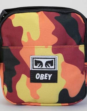Obey Drop Out Traveler Cross Body Bag - Orange Field Camo