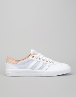 Adidas Lucas Premiere Skate Shoes - White/Ash Pearl/Gold Metallic