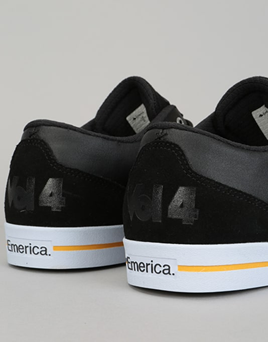 Emerica x Vol 4 Herman G-Code Re-Up Skate Shoes - Black/White/Gold
