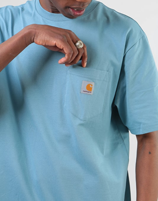 Carhartt S/S Pocket T-Shirt - Dusty Blue