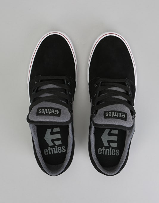 Etnies Barge LS Skate Shoes - Black/Charcoal/Silver