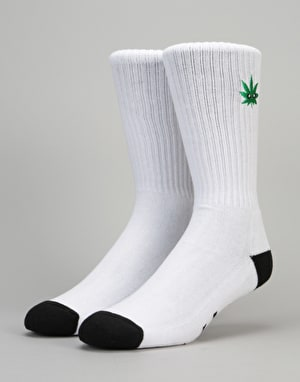 HUF Cmon Leaf Plantlife Crew Socks - White