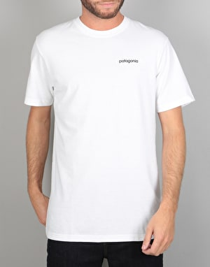 Patagonia Line Logo Badge T-Shirt - White