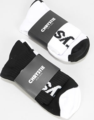 Chrystie Crew Socks 2 Pack -  Black/White