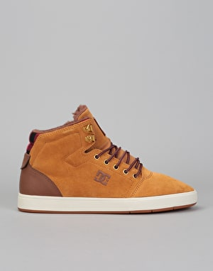 DC Crisis High WNT Skate Shoes - Wheat/Dark Chocolate
