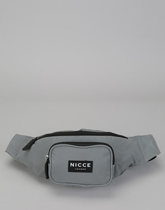 Nicce Reflective Cross Body Bag - Silver
