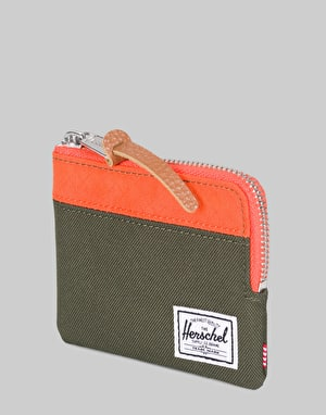 Herschel Supply Co. Johnny Wallet - Forest Night/Vermillion Orange