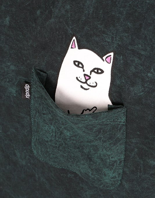 RIPNDIP Lord Nermal Pocket L/S T-Shirt - Forest Wash