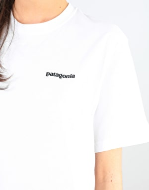 Patagonia Womens P-6 Logo Oversized T-Shirt - White