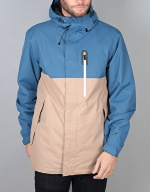 Bonfire Anchor Gold Collection 2018 Snowboard Jacket - Cobalt/Taupe