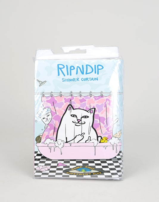 RIPNDIP Lord Nermal Shower Curtain - Pink