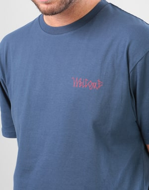 Welcome Candle T-Shirt - Harbour Blue