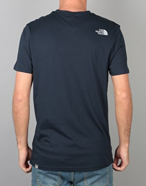 The North Face S/S Simple Dome T-Shirt - Urban Navy/High Rise Grey