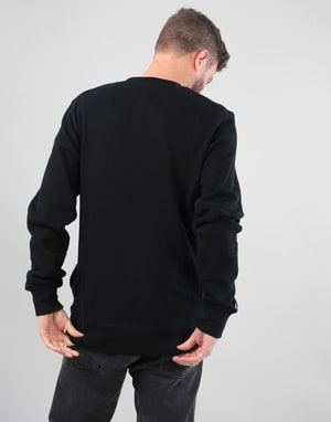 DC Skate Circle Fleece Crew Sweatshirt - Black