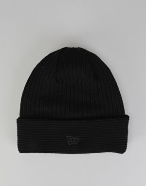 New Era Reverse Knit Cuff Beanie - Black