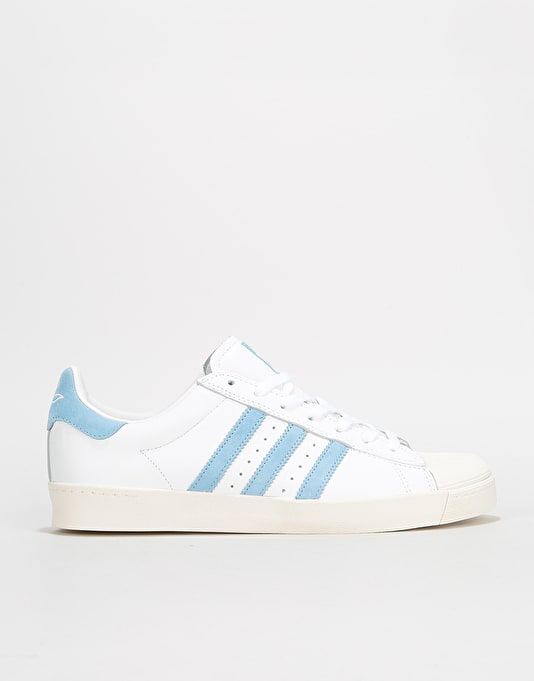 56911cbd71f Adidas x Krooked Superstar Vulc Skate Shoes - White Custom Chalk White    Skate Shoes   Mens Skateboarding Trainers   Footwear   Route One