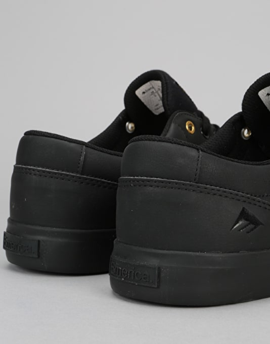 Emerica Provost Slim Vulc Skate Shoes - Black/Gold