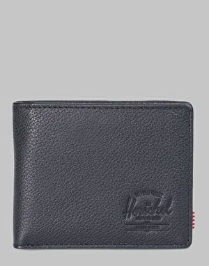 Herschel Supply Co. Hank Leather  RFID Wallet - Black Pebbled Leather