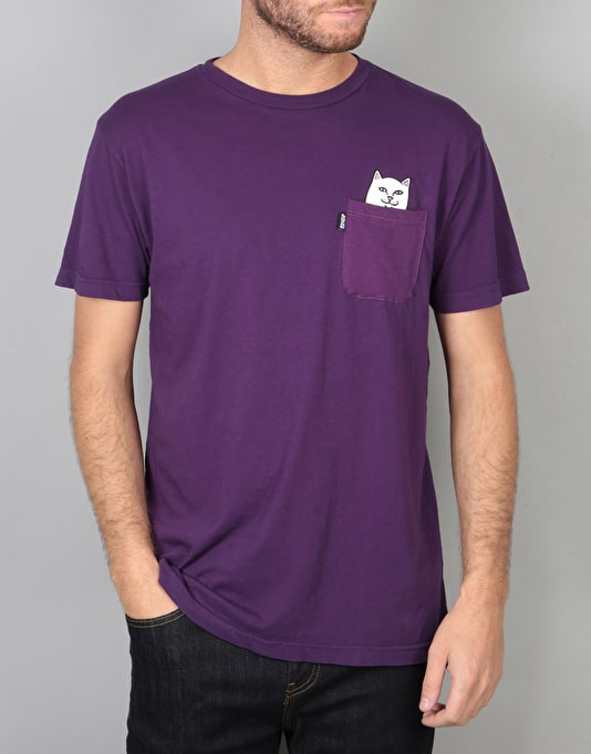 RIPNDIP Lord Nermal Pocket T-Shirt - Plum