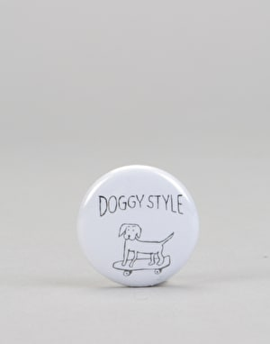 Route One Doggy Style Button Badge - White