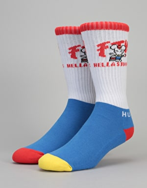 HUF FTW Stoops Crew Socks - White