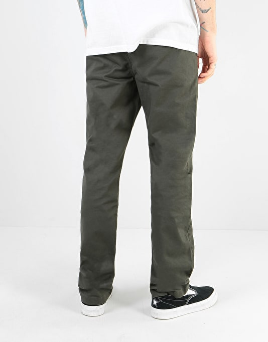 Route One Premium Relaxed Fit Chinos - Army