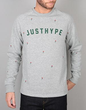 Hype Scattered Rose Crew - Grey Marl