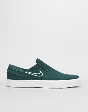 Nike SB Zoom Stefan Janoski Slip On Skate Shoes - Deep Jungle/Barely