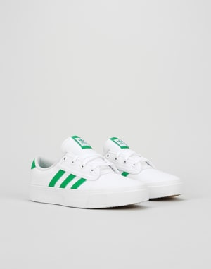 Adidas Kiel Womens Trainers - White/Green/White