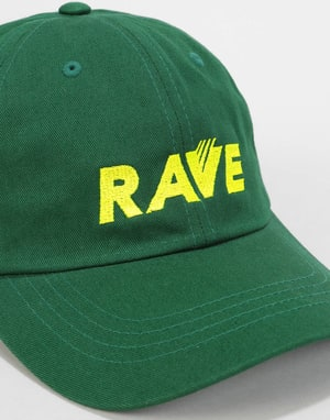 Rave Software Dad Cap - Forest/Safety Yellow