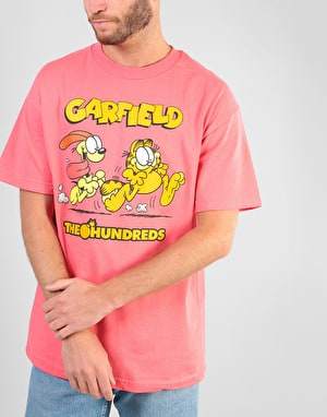 The Hundreds x Garfield Chase T-Shirt - Coral