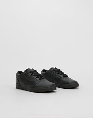 Vans Old Skool Boys Skate Shoes - (Classic Tumble) Black Mono