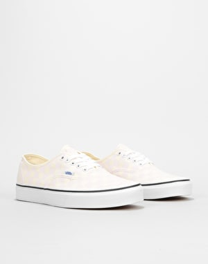 Vans Authentic Skate Shoes - (Checkerboard) Chalk Pink/Classic White