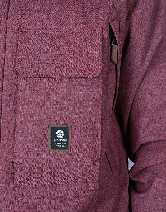 Sessions Supply 2018 Snowboard Jacket - Burgundy