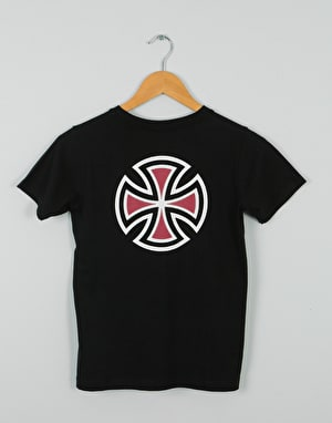 Independent Bar Cross Boys T-Shirt - Black