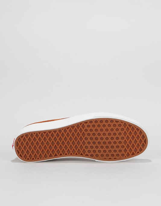 Vans Authentic Skate Shoes - (Pig Suede) Leather Brown