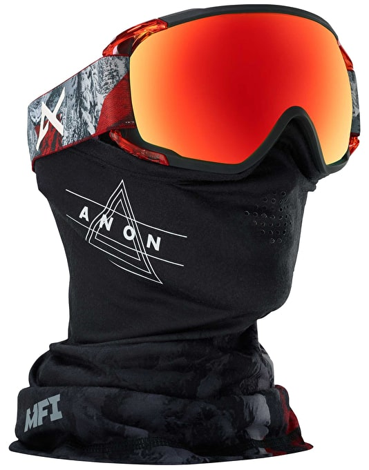 Anon Circuit MFI 2018 Snowboard Goggles - Red Planet/SONAR Red