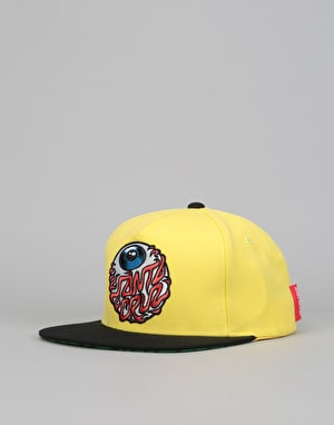 Santa Cruz Eyeball Snapback Cap - Yellow/Black